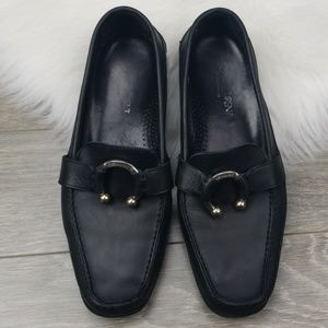 YVES SAINT LAURENT Rive Gauche Leather Loafers 39